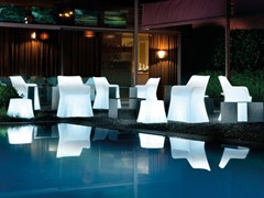 - Garden armchair with light with armrests PHANTOM LIGHT - DOMITALIA