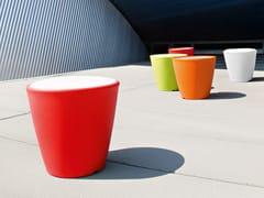 - Round plastic garden pouf OMNIA-P - DOMITALIA