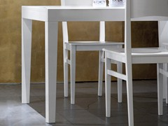- Lacquered square wooden table ASSO-90 - DOMITALIA