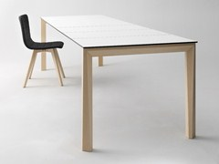 - Extending rectangular wooden table UNIVERSE 160 | Wooden table - DOMITALIA
