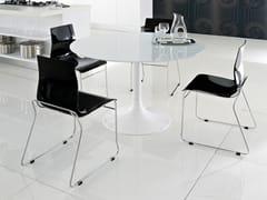 - Lacquered round table CORONA-100 - DOMITALIA