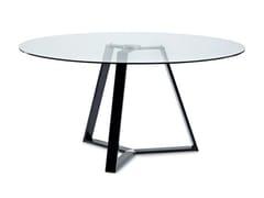- Mesa redonda de vidrio ARCHIE-152 - DOMITALIA