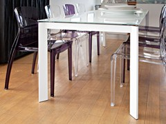- Extending rectangular dining table UNIVERSE 110 - DOMITALIA