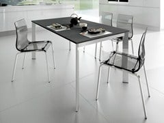 - Extending rectangular steel table UNIVERSE 130 | Steel table - DOMITALIA