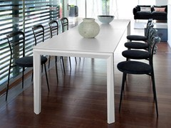 - Extending rectangular steel table UNIVERSE 160 | Steel table - DOMITALIA