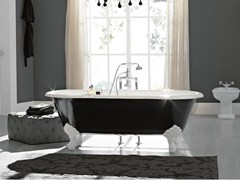 - Oval cast iron bathtub on legs VINTAGE | Bathtub on legs - BLEU PROVENCE
