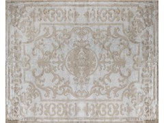 - Handmade silk rug POMPADOUR SILVER - EDITION BOUGAINVILLE