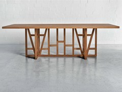 Rectangular solid wood table FACHWERK - Vitamin design