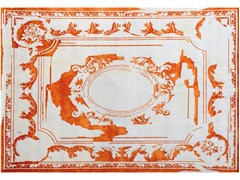 - Handmade rug FONTENAY NEW AGE TANGERINE - EDITION BOUGAINVILLE
