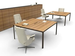 - Square wooden meeting table MORE | Square meeting table - ESTEL GROUP