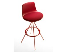 - Trestle-based counter stool with footrest LOTTUS | Chair with footrest - ENEA