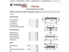 Slab calculation Tsol-ba - Calcolo solai BAUSTA - INTERSTUDIO