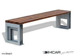 - Contemporary style backless metal Bench Panca Quadrio - DIMCAR