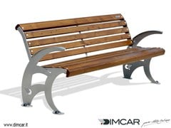 - Contemporary style metal Bench with armrests Panchina Sydney - DIMCAR