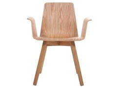 - Solid wood chair with armrests MAVERICK | Chair with armrests - KFF