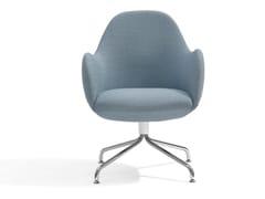 - Easy chair with 4-spoke base WILMER CS - Blå Station