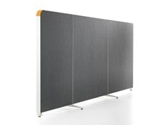 - Sound absorbing modular workstation screen ALUMI CURVES - Abstracta