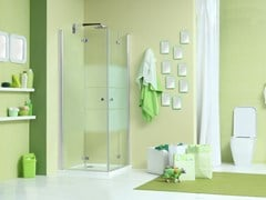 - Corner shower cabin with folding door WEB 3.0 A - MEGIUS