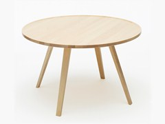 - Low round solid wood coffee table MILL | Round coffee table - Karl Andersson & Söner