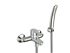 - Single handle bathtub mixer with hand shower NEW DAY - CRISTINA Rubinetterie