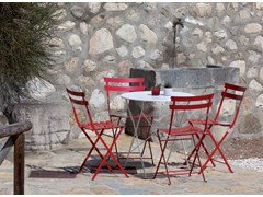 - Folding round steel garden table ROY | Round table - Talenti