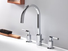 - 3 hole chrome-plated washbasin tap PICCHE ELITE | 3 hole washbasin tap - CRISTINA Rubinetterie