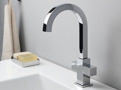 - Chrome-plated 1 hole washbasin tap QUADRI | 1 hole washbasin tap - CRISTINA Rubinetterie