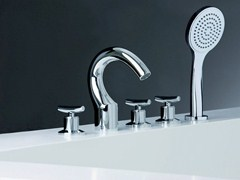 - 5 hole bathtub set with hand shower SELTZ - CRISTINA Rubinetterie