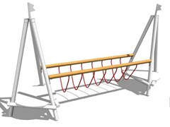 - Wooden Overhead ladder SWINGING ROPES BRIDGE - Legnolandia