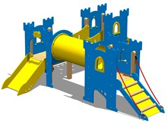 - Polyethylene Overhead ladder CASTELLO TEMPLARI - Legnolandia