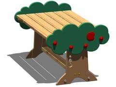 Tavolo per spazi pubblici in pinoMELA | Tavolo rettangolare - LEGNOLANDIA