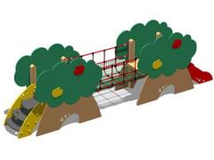 - Polyethylene Slide / Overhead ladder CASTELLO MELO - SCALA GRADINI - Legnolandia