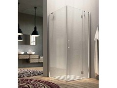 - Corner shower cabin with hinged door LIFE | Corner shower cabin - Glass 1989
