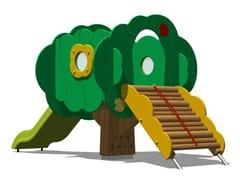 - Polyethylene Play structure / Slide TREE TOWER 100-2 - Legnolandia