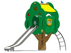 - Stainless steel Play structure / Slide TREE TOWER 150T-6 - Legnolandia