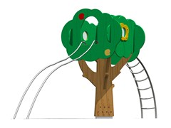 - Pine Play structure TREE TOWER 200-2 - Legnolandia