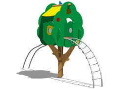 - Pine Play structure TREE TOWER 200T-2 - Legnolandia