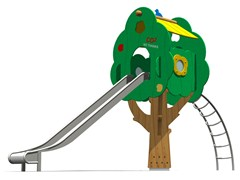 - Stainless steel Play structure / Slide TREE TOWER 200T-6 - Legnolandia