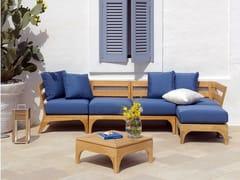 - Sectional teak garden sofa VILLAGE | Sectional sofa - Ethimo