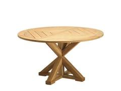- Round teak garden table CRONOS   Round garden table - Ethimo