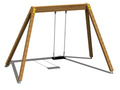 - Stainless steel and wood Seesaw YOUNG | Seesaw - Legnolandia