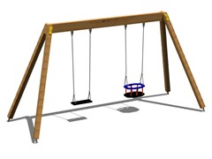 - Stainless steel and wood Seesaw MIX YOUNG - Legnolandia