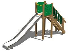 - Wooden Slide SCOIATTOLO 150 INOX - Legnolandia