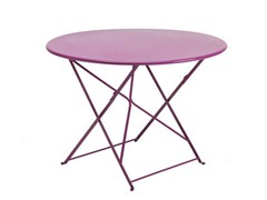 - Folding Round garden table FLOWER | Round garden table - Ethimo