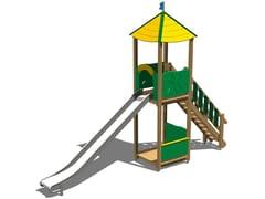 - Stainless steel Play structure / Slide TORRE LONTRA 200 INOX - Legnolandia