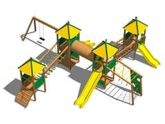 - Pine Play structure CASTELLO SAVANA - Legnolandia