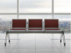 - Steel beam seating with armrests TERMINAL | Beam seating with armrests - ALMA DESIGN