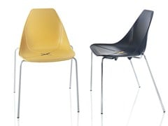 - Stackable polypropylene chair X FOUR - ALMA DESIGN