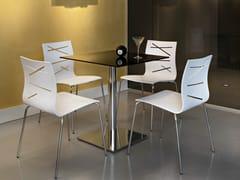 - Square glass and steel table PRISCILLA | Contract table - ALMA DESIGN