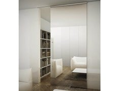 - Glass Sliding door with rails for suspended ceilings SINTHESY LIGHT - FOA
